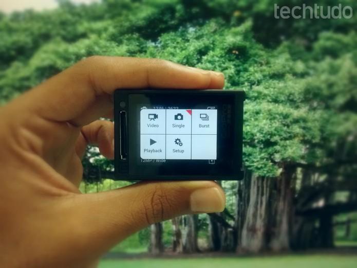 GoPro: acesse a opção foto na tela principal (Foto: Paulo Vasconcellos/TechTudo)