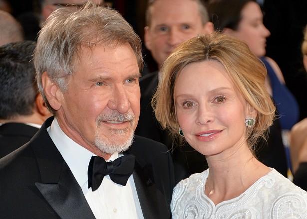 Harrison Ford adotou um menino, Liam, com sua esposa, a atriz Calista Flockhart, em 2001. (Foto: Getty Images)