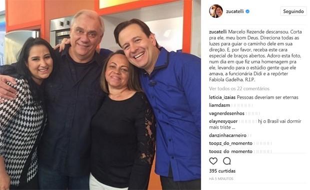 Celso Zucatelli lamenta morte de Marcelo Rezende (Foto: Reprodução/Instagram)