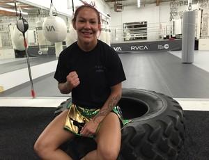 Cris Cyborg; treino; Los Angeles (Foto: Evelyn Rodrigues)