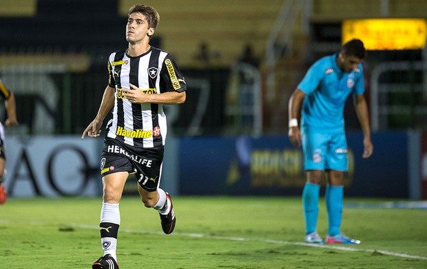 Fellype Gabriel gol Botafogo contra Santos (Foto: Celso Pupo / Agência Estado)