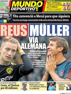 Marco Reus e Thomas Müller, capa Mundo Deportivo (Foto: Reprodução)