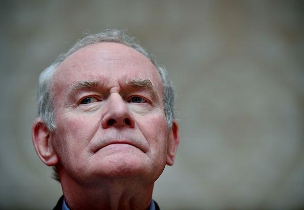 O ex-vice-primeiro-ministro da Irlanda do Norte, Martin McGuinness: morte aos 66 anos (Foto: Charles McQuillan/Getty Images)