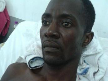 Amigos fazem campanha para ajudar haitiano paraplégico a voltar para casa (Foto: Alcene Amado/ Arquivo pessoal)