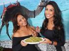 Amanda Djehdian faz receita com a mãe: 'Descobri que sou boa na cozinha'