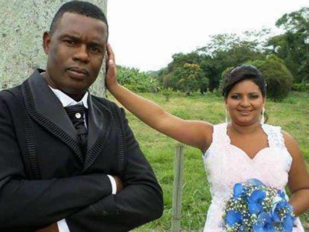 Noivos casamento Pirapetinga.jpg (Foto: Adiliane Mattos/Arquivo pessoal)