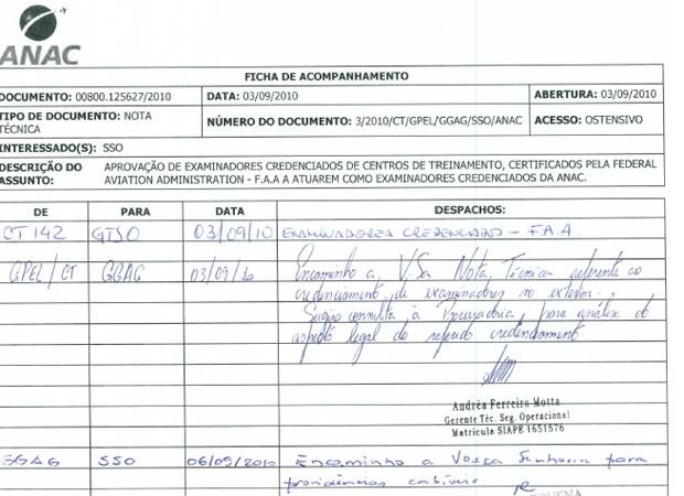 Nota técnica da Anac recomenda avaliação do MPF sobre acordos com examinadores nos EUA (Foto: Reprodução)