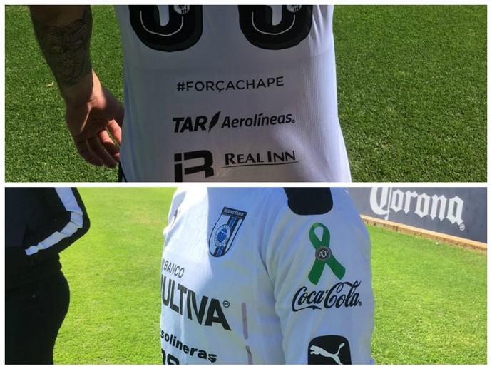 querétaro homenageia chapecoense na camisa (Foto: Divulgação)