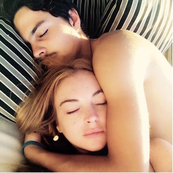 A atriz Lindsay Lohan com seu ex-noivo (Foto: Instagram)