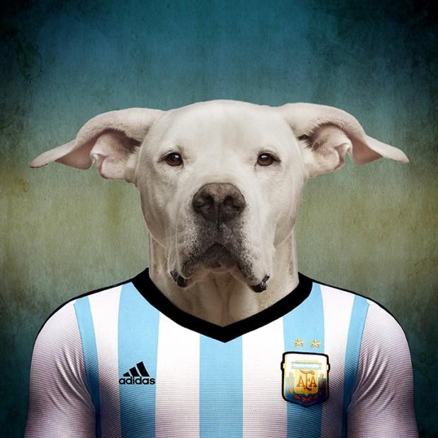 O Dogo argentino (Foto: Reprodução Life On White)