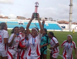 Internacional-MA campeão feminino maranhense (Foto: Bruno Alves/Globoesporte.com)