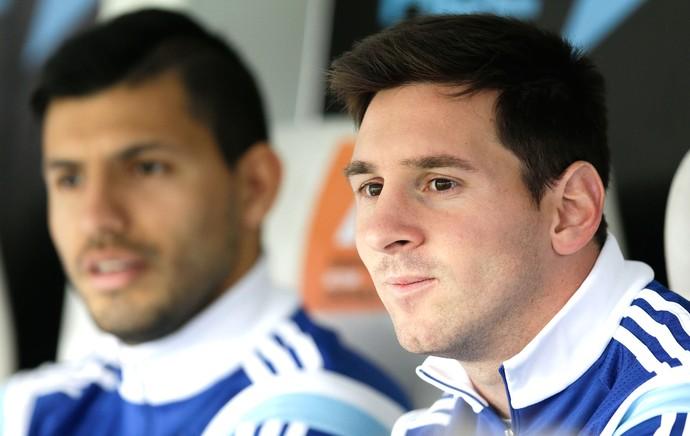 Messi Amistoso Argentina e Eslovênia  (Foto: Agência AP )