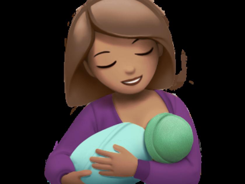 Emoji de mãe amamentando (Foto: Reprodução Apple)