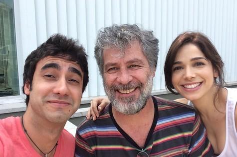 Gabriel Godoy, Leopoldo Pacheco e Sabrina Petraglia (Foto: Arquivo pessoal)