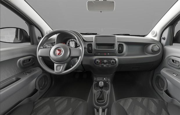 Interior do Fiat Mobi básico (Foto: Reprodução)