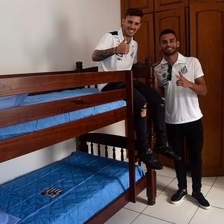 Thiago Maia e Zeca prestigiaram inauguração da Casa Meninos da Vila (Foto: Ivan Storti/Santos FC)
