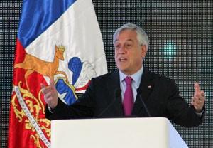 O presidente chileno Sebastián Piñera deu o comendo para o início oficial das operações do Alma, e falou em estimular o turismo astronômico em seu país (Foto: Dennis Barbosa/G1)