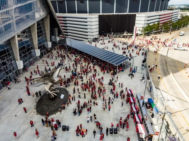 Novo estádio do Atlanta Falcons ganha título de mais sustentável do mundo (Foto: Divulgação)