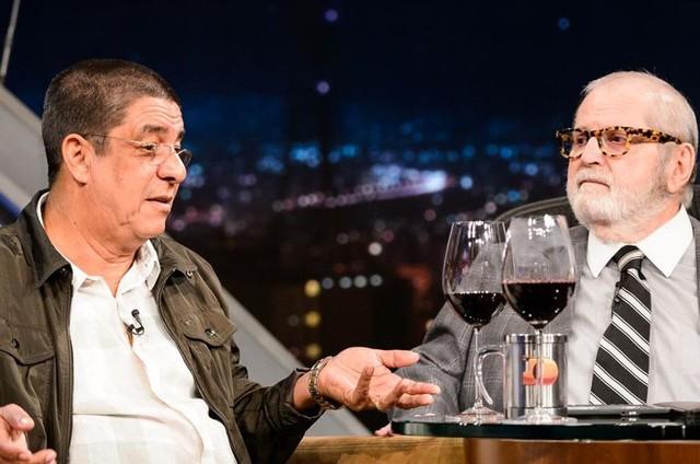 Zeca Pagodinho e Jô Soares (Foto: Ramon Vasconcelos/TV Globo)