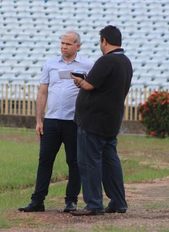 Presidente do Flamengo-PI, Tiago Vasconcelos (Foto: Joana D'arc Cardoso)