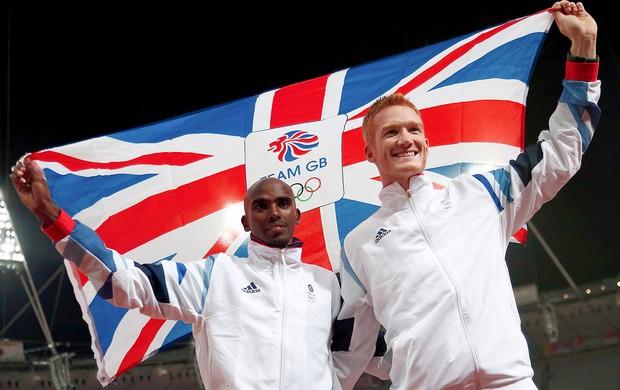 Moh Farah e Greg Rutherford, atletismo, Londres (Foto: Agência Reuters)