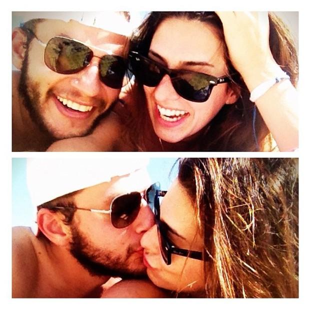 Fernanda Paes Leme e o ex-namorado Bruno Martins (Foto: Instagram/Reprodução)