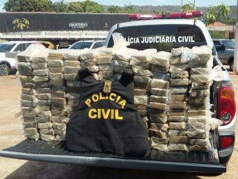 Droga foi apreendida pela Polícia Civil em MT (Foto: Divulgação/Polícia Civil-MT)