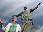 'Eu sou um milagre', diz Netinho em visita ao Cristo Redentor, no Rio