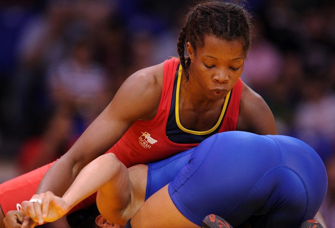 Joice Silva luta olímpica (Foto: AFP)