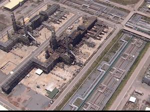 Segundo a Petrobras, Unidade II da Refinaria Abreu e Lima está 79% concluída (Foto: Reprodução/TV Globo)