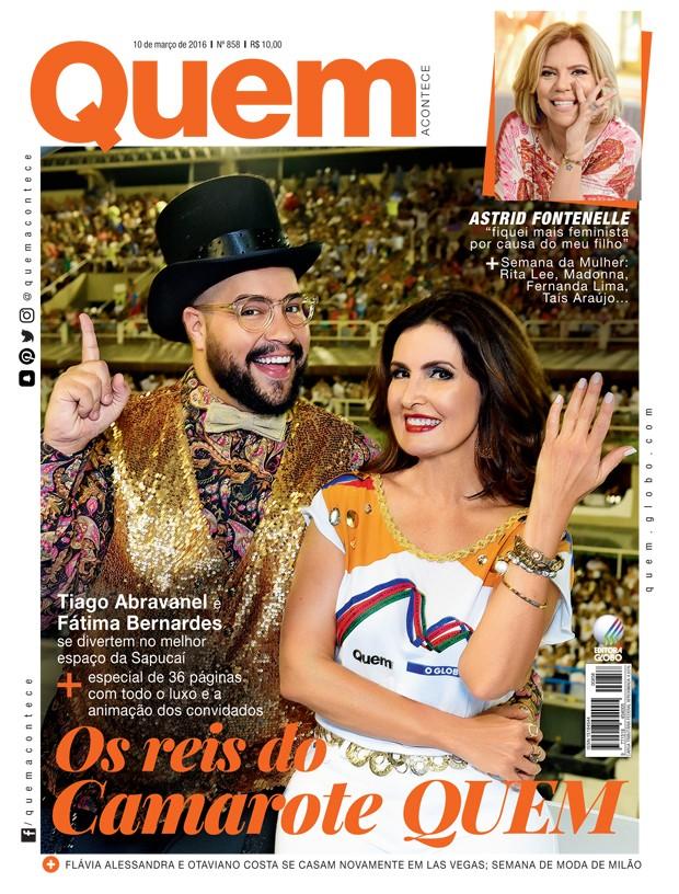 Tiago Abravanel e Fátima Bernardes: os reis do camarote QUEM (Foto: ed globo)