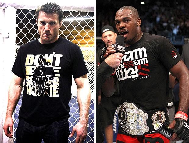 montagem  Jon Jones e Chael Sonnen UFC (Foto: Editoria de Arte / Globoesporte.com)