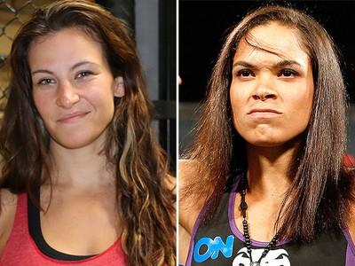 Montagem Miesha Tate e Amanda Nunes (Foto: Globoesporte.com)