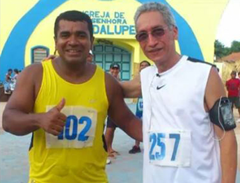 Ney da Silva na (esquerda) e Carlos Araújo na (direita) (Foto: Arquivo pessoal/Ney Silva)