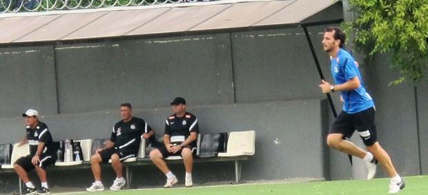 Edu Dracena treino Santos (Foto: Lincoln Chaves)