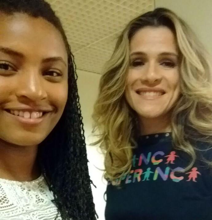 Duas lindas: Malu Cavalcanti e Ingrid Guimarães (Foto: Arquivo pessoal)