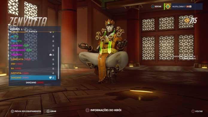 Suporte tem skin inspirada em monge em Overwatch (Foto: Reprodução/Murilo Molina)