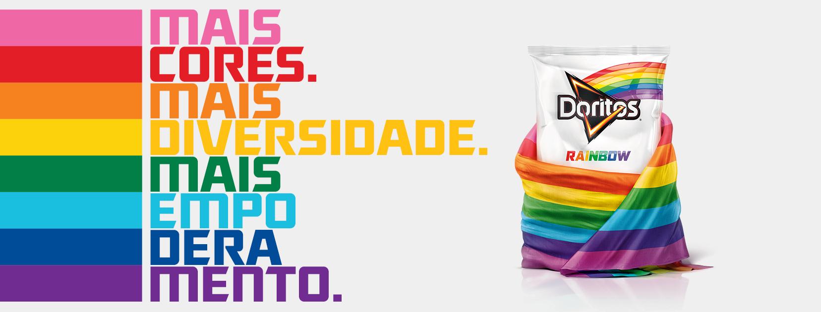 Doritos Rainbow, criado no mês da parada LGBT (Foto: Divulgação)