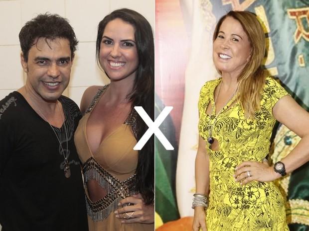 Zezé Di Camargo, Graciele Lacerda e Zilu Godoi (Foto: Isac Luz/ EGO | AgNews)