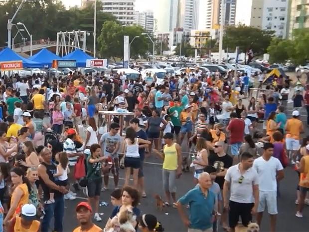 Concentração ocorre na arena de beach-soccer da Lagoa (Foto: Divulgação / Mirante FM)