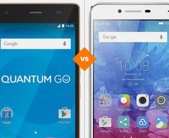 Quantum GO ou Vibe K5: qual celular de preço intermediário é o ideal? (Foto: Arte/TechTudo)