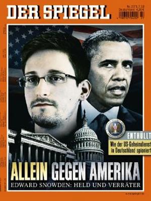 Capa da revista alemã 'Der Spiegel' traz denúncia de que EUA espionaram a União Europeia. (Foto: Reprodução/spiegel.de)