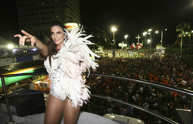 Ivete no Carnaval 2011 (Foto: Getty Images)