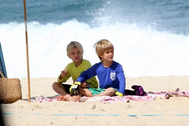 João e Franscico, filhos de Fernanda Lima e Rodrigo Hilbert (Foto: J. Humberto/Agnews)