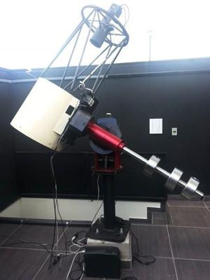 Telescópio usado por amadores descobriu primeiro cometa brasileiro (Foto: Anna Lúcia Silva/ G1)