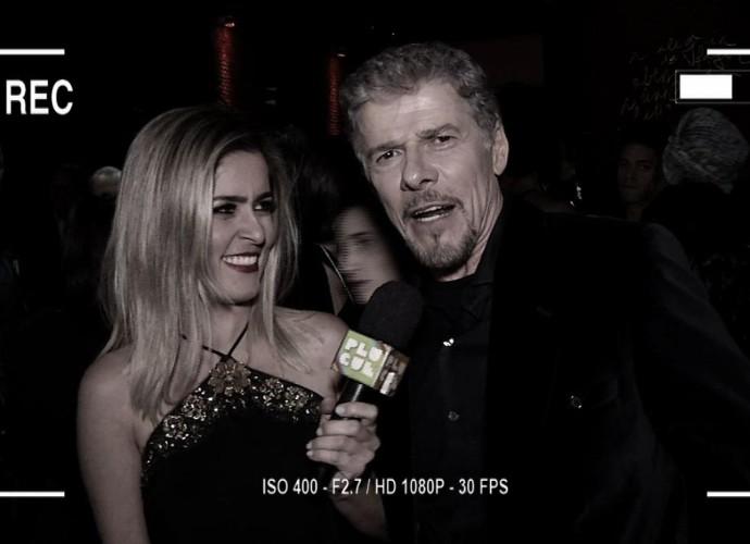 Diana aproveitou para bater um papo com José Mayer na festa de A Lei do Amor (Foto: Reprodução/ Plugue)