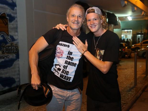 Marcello Novaes e o filho Pedro em show na Zona Sul do Rio (Foto: Roberto Filho/ Brazil News)