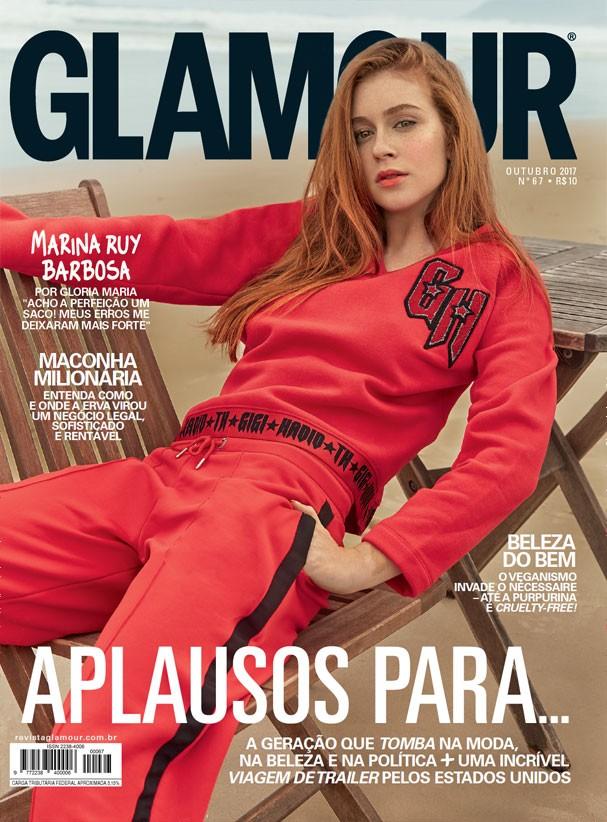 Marina Ruy Barbosa é a estrela da Glamour de outubro (Foto: Mar+Vin/Glamour)