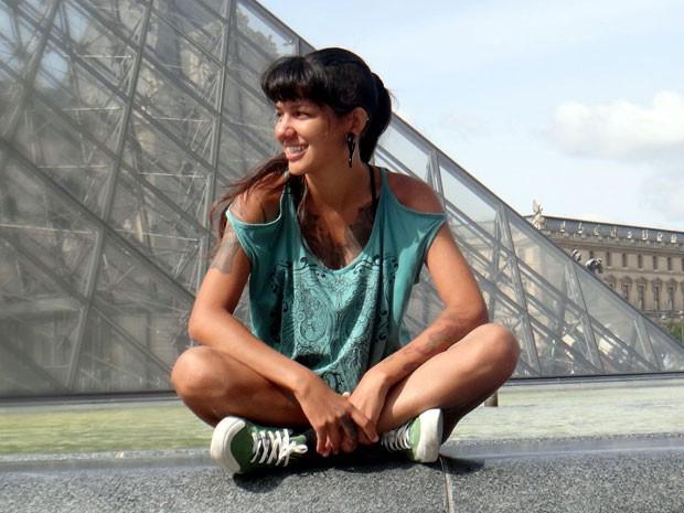 Aline Campbell em Paris (Foto: Aline Campbell/Arquivo pessoal)