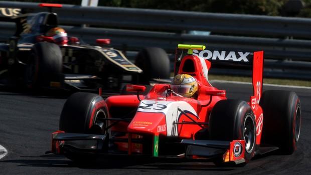 Luiz Razia guia pela equipe Arden na rodada da GP2 na Hungria (Foto: Divulgação GP2)